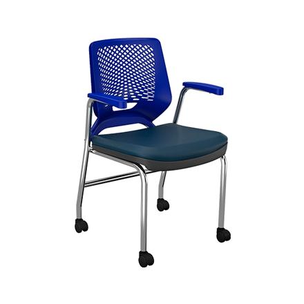 Cadeira cromada com rodizios