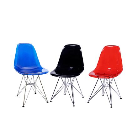 Cadeira Fixa com base Cromada